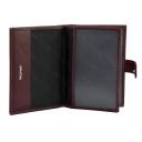 Бумажник для документов кожаный бордовый 443/311
