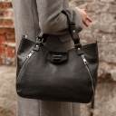 Женская сумка из натуральной кожи черная 1957/101 Украина