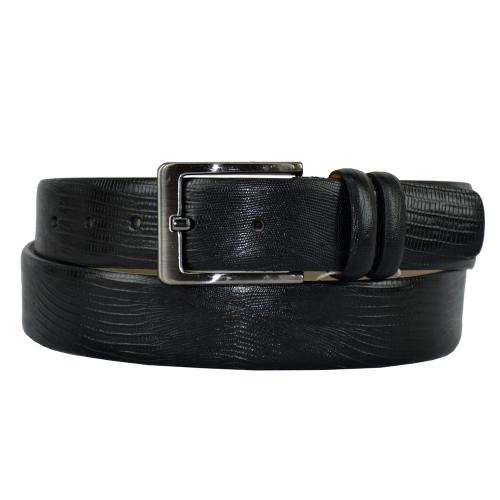 Мужской кожаный ремень черный 401/106 Турция