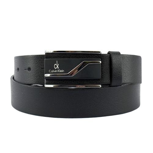Ремень кожаный черный Calvin Klein 06/101 Италия