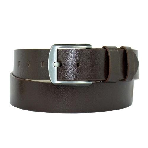 Ремень кожаный коричневый для джинс 228/201 Турция