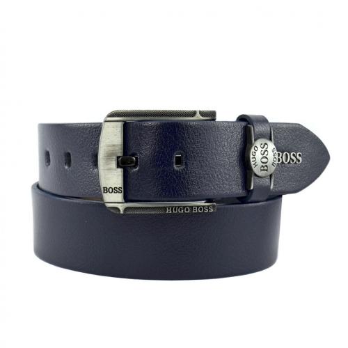 Ремень кожаный мужской джинс HUGO BOSS 06/401 Италия