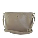 Бежевая сумка женская кожаная средняя 2557/221 Украина