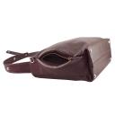 Большая сумка кожаная  1519/311 Украина бордовая