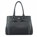 Большая сумка кожаная женская черная 444/101 Украина