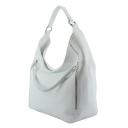 Большая женская сумка кожаная белая 2053/011 Украина