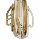 Большая женская сумка кожаная слоновая кость 444/234P Украина