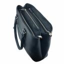 Большая женская сумка кожаная синяя 444/401 Украина
