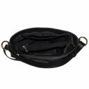 Черная кожаная сумка природной текстуры 2213/101 Украина