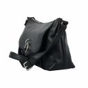 Черная кожаная сумка женская с кольцом 1942/101 Украина