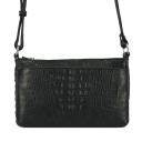 Черная сумка через плечо женская кожаная крокодил 1929/105 Украина