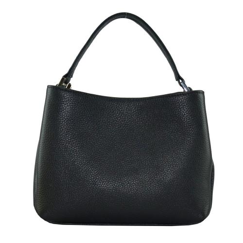 Черная сумка кожаная 2278/101 Украина на плечо