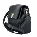 Черная женская сумка из натуральной кожи маленькая 2117/101 Украина