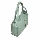 Дамская сумка кожаная цвета ментол 1826/511 Украина