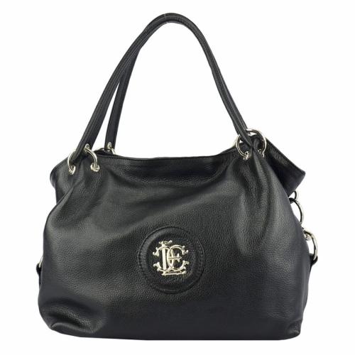 Дамская сумка из натуральной кожи черная 672Б/101 Украина