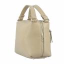 Дамская сумочка через плечо кожаная бежевая 2192Б/221 Украина