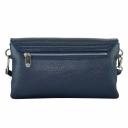 Дамская сумочка через плечо кожаная синяя Karya 2121/401 Турция