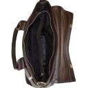 Деловая женская сумка из натуральной кожи коричневая шоколад 1973/201 Украина