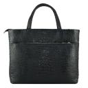 Деловая женская сумка из натуральной кожи 2100/104 Украина черная