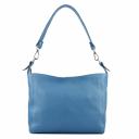 Голубая сумка женская кожаная 2111/411 Украина