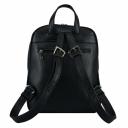 Городской кожаный рюкзак черный 2481/101 Украина