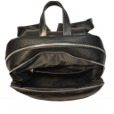 Городской рюкзак кожаный черный 0308/101 Украина