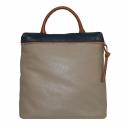 Городской рюкзак кожаный бежевый 2428/221 Украина