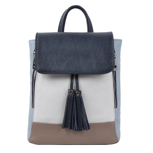 Городской рюкзак кожаный разноцветный 2484/401 Украина