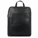 Городской рюкзак кожаный черный трансформер Karya 0738/101 Турция