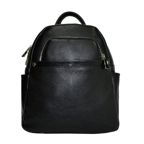 Городской рюкзак кожаный женский черный 2228/101 Украина