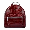 Городской рюкзак кожаный женский бордо крокодил Karya 0781/315 Турция