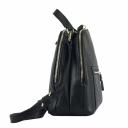 Городской рюкзак женский кожаный черный 1829/101 Украина