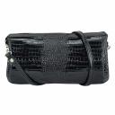 Клатч женский кожаный черный глянец 1486/105 Украина