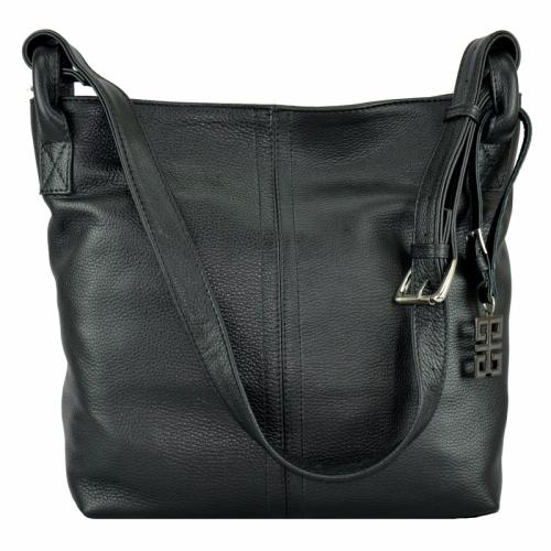 Кожаная черная сумка женская 2212/101 Украина