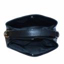 Кожаная черная сумка в тиснении 2278/104 Украина