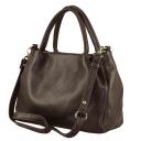 Кожаная сумка 2367/201 Украина коричневая