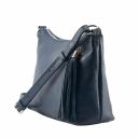 Кожаная сумка через плечо женская синяя 1128/401 Украина