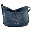 Кожаная сумка через плечо синяя 2148/401 Украина