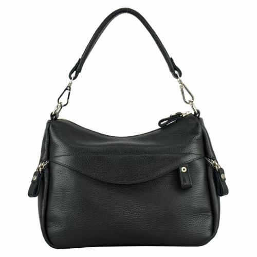 Кожаная сумка через плечо женская черная 2141/101 Украина
