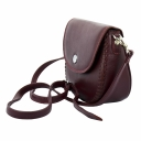Кожаная сумка через плечо женская бордовая Karya 0775/311 Турция