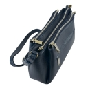 Кожаная сумка на плечо синяя 2325/401 Украина