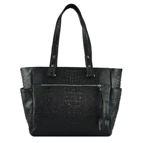 Кожаная сумка женская 1517/104 Украина черная