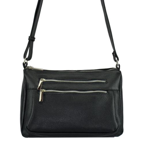 Кожаная сумка женская черная 2031/101 Украина
