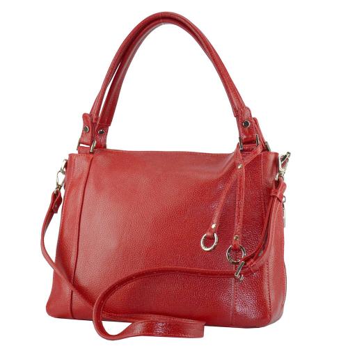 Кожаная сумка женская красная 2595/301 Украина