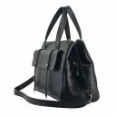 Кожаная сумка женская черная 2670/101 Украина