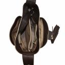 Кожаная сумка женская слоновая кость шоколад 963/231-201 Украина