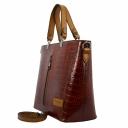 Кожаная сумка женская терракотовая KARYA 5031/134 Турция