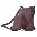 Кожаная сумочка через плечо женская бордо 1128/311 Украина