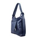 Кожаная женская сумка синяя трансформер 2014/401 Украина