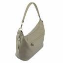 Кожаная женская сумка бежевая 2078/221 Украина
